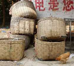 Storage baskets in the old village.