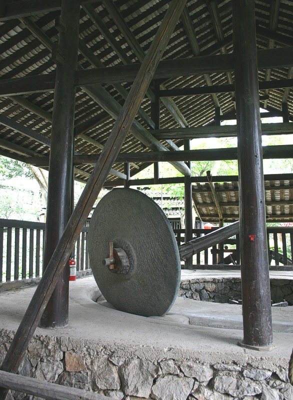 Rice Grist Mill Wheel,  approximately 5 feet tall