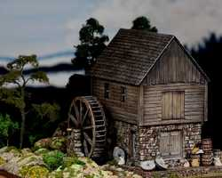 diorama grist mill 0298Old Grist Mill