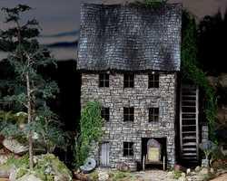 Old Pine Ridge Milldiorama pinehouse 0506